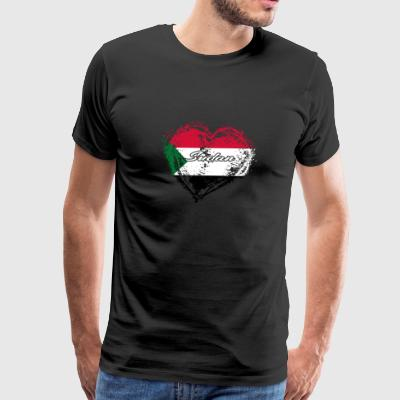 HOME ROOTS COUNTRY GIFT LOVE Sudan - Men's Premium T-Shirt