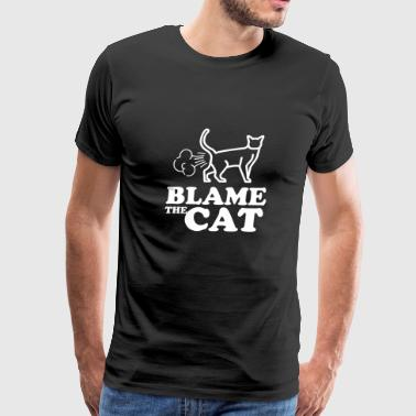 Blame the cat - fart king - Men's Premium T-Shirt