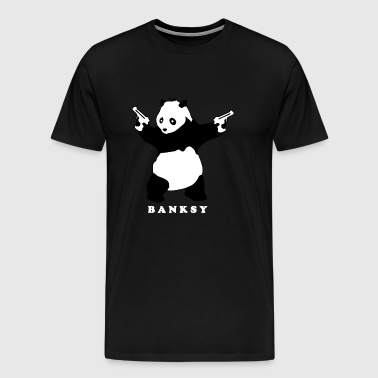banksy panda with guns - Men's Premium T-Shirt