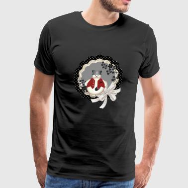Snowman wreath - Men's Premium T-Shirt