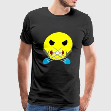 Simile Angry Face Wolverine - Men's Premium T-Shirt