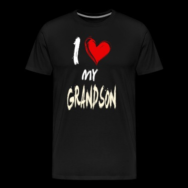 I love my GRANDSON - Men's Premium T-Shirt