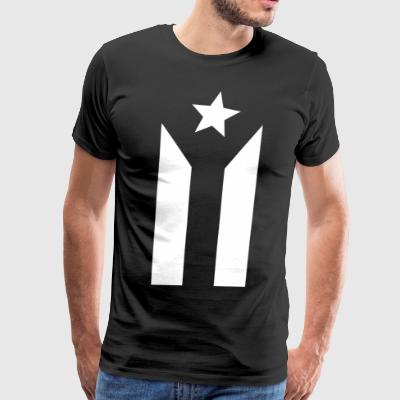 PUERTO RICO BLACK FLAG - Men's Premium T-Shirt