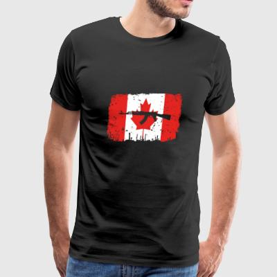 homeland fight ak 47 heimat roots Canada png - Men's Premium T-Shirt