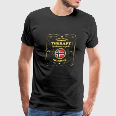 DON T NEED THERAPIE GO TO NORWAY - Men's Premium T-Shirt