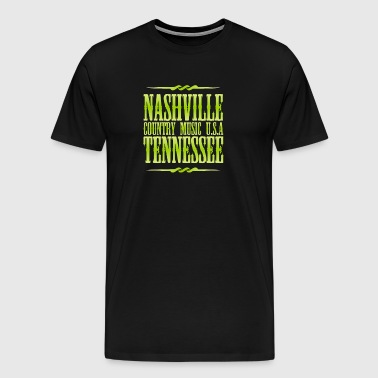 Nashville Tennessee Country Music - Men's Premium T-Shirt