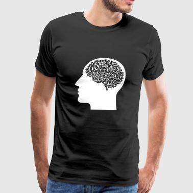 sex brain man men penis - Men's Premium T-Shirt