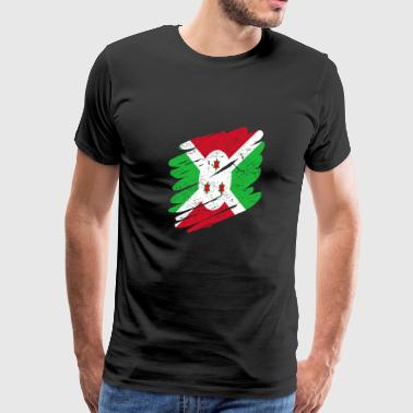 Pinsel Land Heimat Burundi - Men's Premium T-Shirt