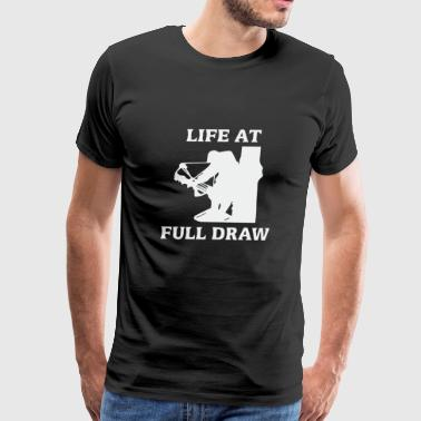 Life at full draw bowfishing - Men's Premium T-Shirt