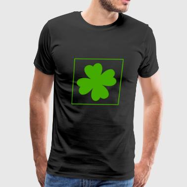kleeblatt glueck shamrock luck four leaf clover19 - Men's Premium T-Shirt