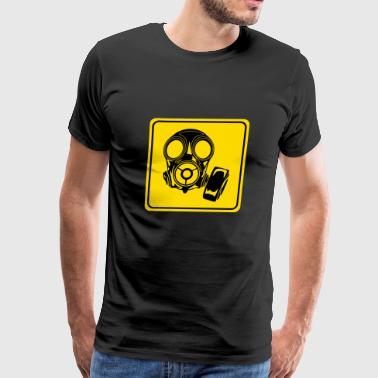Danger Warning Fart Farting Smell Toxic Mask Gift - Men's Premium T-Shirt
