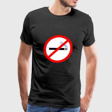 rauchen no smoking cigarette zigarette pipe pfeiff - Men's Premium T-Shirt