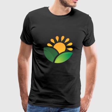 Sunrise Obscured Leaves - Men's Premium T-Shirt