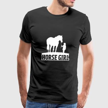 Equestrian Women Girls Love Their Horses Gift - Men's Premium T-Shirt