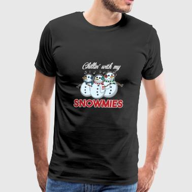 Chillin With My Snowmies Christmas Homie Pun Gift - Men's Premium T-Shirt