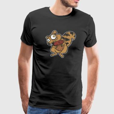squirrel - funny squirrel with acorn - Men's Premium T-Shirt