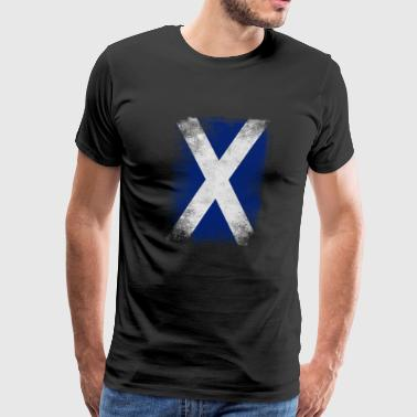 Scotland Flag Proud Scottish Vintage Distressed - Men's Premium T-Shirt