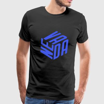 Nevada Cube | Silver State cool Christmas Present - Men's Premium T-Shirt