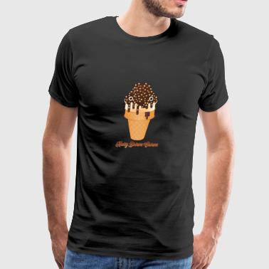 Nutty Brown Crown - Men's Premium T-Shirt