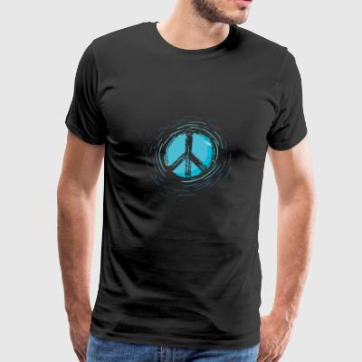 Peace blue - Men's Premium T-Shirt