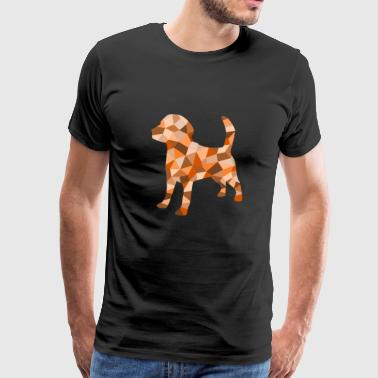 A dog, which is composed of geometric shapes - Men's Premium T-Shirt