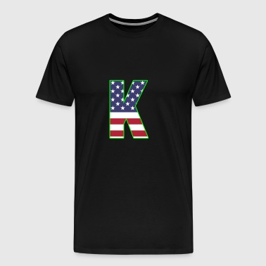 USA letter K Kilo alphabet - Men's Premium T-Shirt