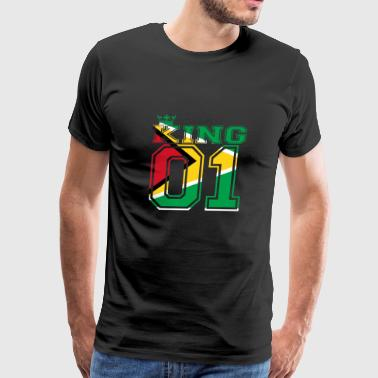 couple land king 01 prince Guyana - Men's Premium T-Shirt