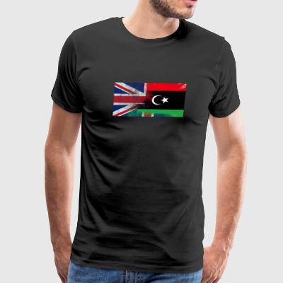 British Libyan Half Libya Half UK Flag - Men's Premium T-Shirt