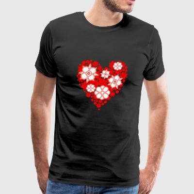 Flower Heart - Men's Premium T-Shirt