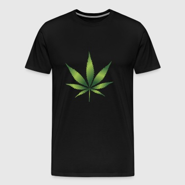 Cannabis Hemp Leaf 420 Marijuana Weed Ganja - Men's Premium T-Shirt