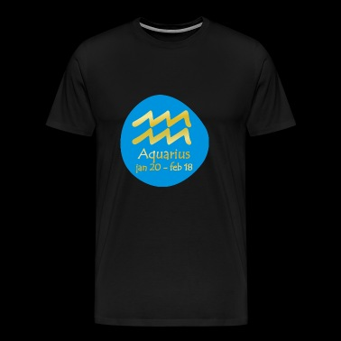 Aquarius Horoscope - Men's Premium T-Shirt