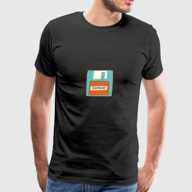 Retro Vintage Floppy Disk Design - Men's Premium T-Shirt