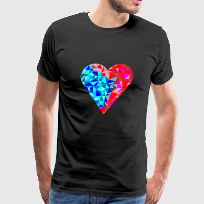 low poly logo heart - Men's Premium T-Shirt