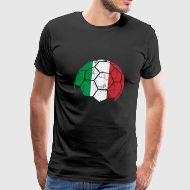 Italy Soccer Football Ball - Men's Premium T-Shirt