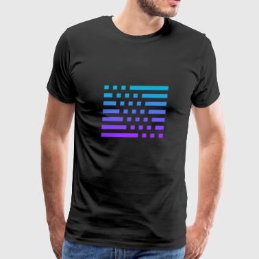Premium Gradient Striped and Checkered Design - Men's Premium T-Shirt