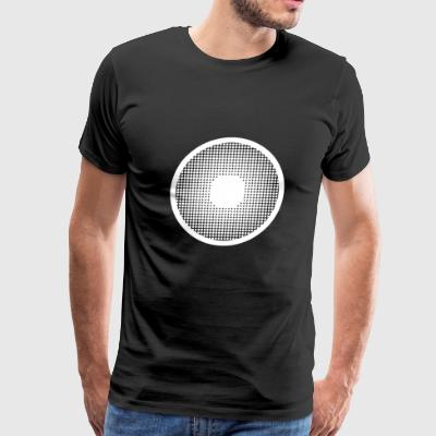 pupil hafltone big eye watching looking observe - Men's Premium T-Shirt