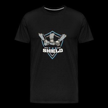 The Shield Blue Logo - Men's Premium T-Shirt
