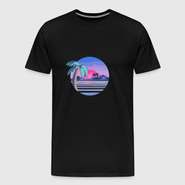 Vaporwave Beach - Men's Premium T-Shirt