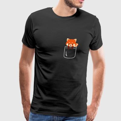 Red Panda In Pocket Funny Cute Animal Love - Men's Premium T-Shirt