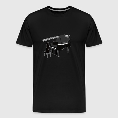 Funny Cat Playing Piano Keys Music Gift - Men's Premium T-Shirt