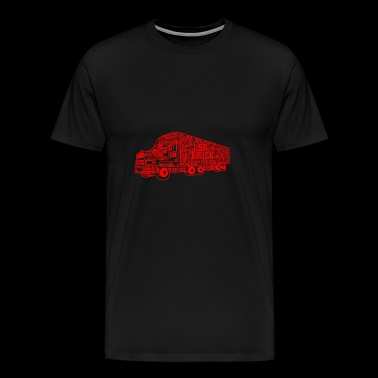 GIFT - USA TRUCK RED - Men's Premium T-Shirt