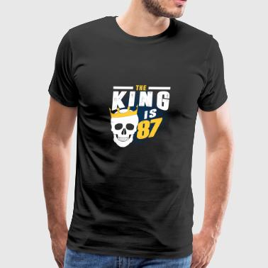 the king is 87 - Men's Premium T-Shirt