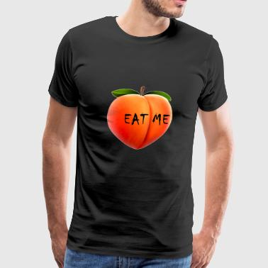 Peach. Eat me. - Men's Premium T-Shirt