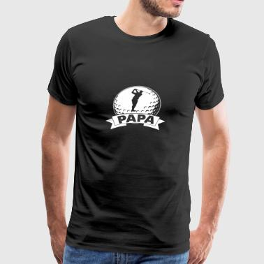 Golf Papa T shirt For Men - Men's Premium T-Shirt