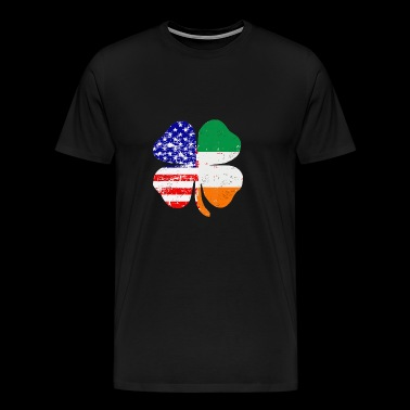 American Irish Clover Leaf Gift - Men's Premium T-Shirt