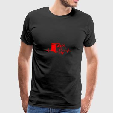 Machine Repairman Heartbeats Gift - Men's Premium T-Shirt
