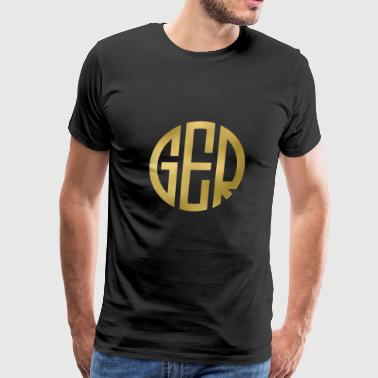 MONOGRAM CIRCLE GERMANY - Men's Premium T-Shirt