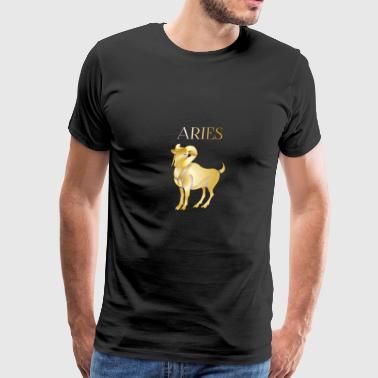 Aries (Purple and Gold) - Men's Premium T-Shirt