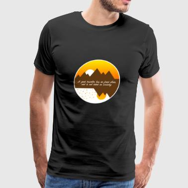 A good traveler has no fixed plans - Men's Premium T-Shirt