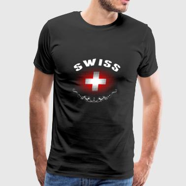 Swiss Flag Tshirt - Men's Premium T-Shirt